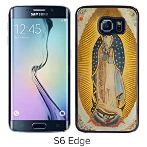 Beautiful Samsung Galaxy S6 Edge Cover Case ,Newest And Durable Designed Case With Lady of Guadalupe Black Samsung Galaxy S6 Edge Case Unique And Cool Phone Case