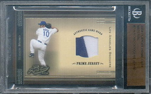 d27572eed50 2004 Prime Cuts Material  7 Hideo Nomo Dodgers Game-Worn Jersey Card Serial    d 50