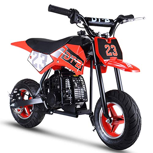 V-Fire 2-Stroke 51CC Gas Dirt Bike Mini Motorcycle (EPA Registered, NO CA Sales) (red)