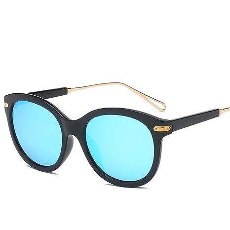 Olprkgdg Gafas de sol para hombres Lentes espejadas planas ...