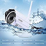 Wireless IP Camera, 720P HD Waterproof Surveillance Network Camera with Night Vision and Motion Detection Email Alert Remote View for Phone/Pad/PC, Wireless Security Bullet Camera