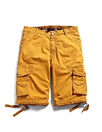 Men's Cotton Casual Multi Pockets Cargo Shorts