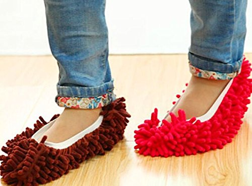 SHADIAO Mop Slippers Shoes Cover, Soft Washable Reusable Microfiber Foot Socks Floor Dust Dirt Hair Cleaner for Bathroom Office Kitchen House Polishing Cleaning 10pcs (5 Pairs)