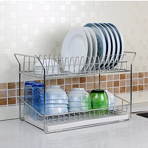Hyun times Van Shelf 304 Stainless Steel 45.5 24 29cm Integral Double Drainage Kitchen Store Storage Droplet by Hyun times Bowl shelf