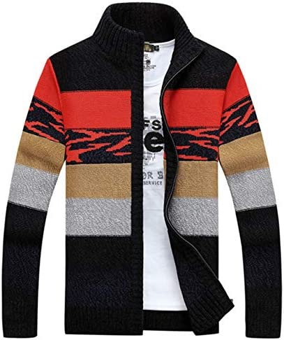 ZUOMAメンズ ニットコート カーディガン ブルゾン カジュアルコート セーター型 カットソー