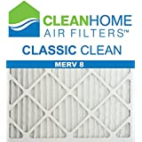 20x22x1 Clean Home - Classic Clean MERV 8 Pleated Filter (Pack of 6)