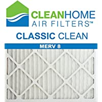 16x20x1 Clean Home - Classic MERV 8 Pleated AC Furnace Air Filter (Pack of 6)