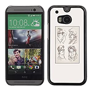FlareStar Colour Printing Portrait Character Drawing Poster cáscara Funda Case Caso de plástico para HTC One M8