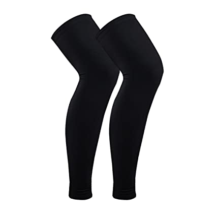 d036cd70a8 Image Unavailable. Image not available for. Color: Senston 1 Pair  Compression Long Knee Sleeves Basketball ...