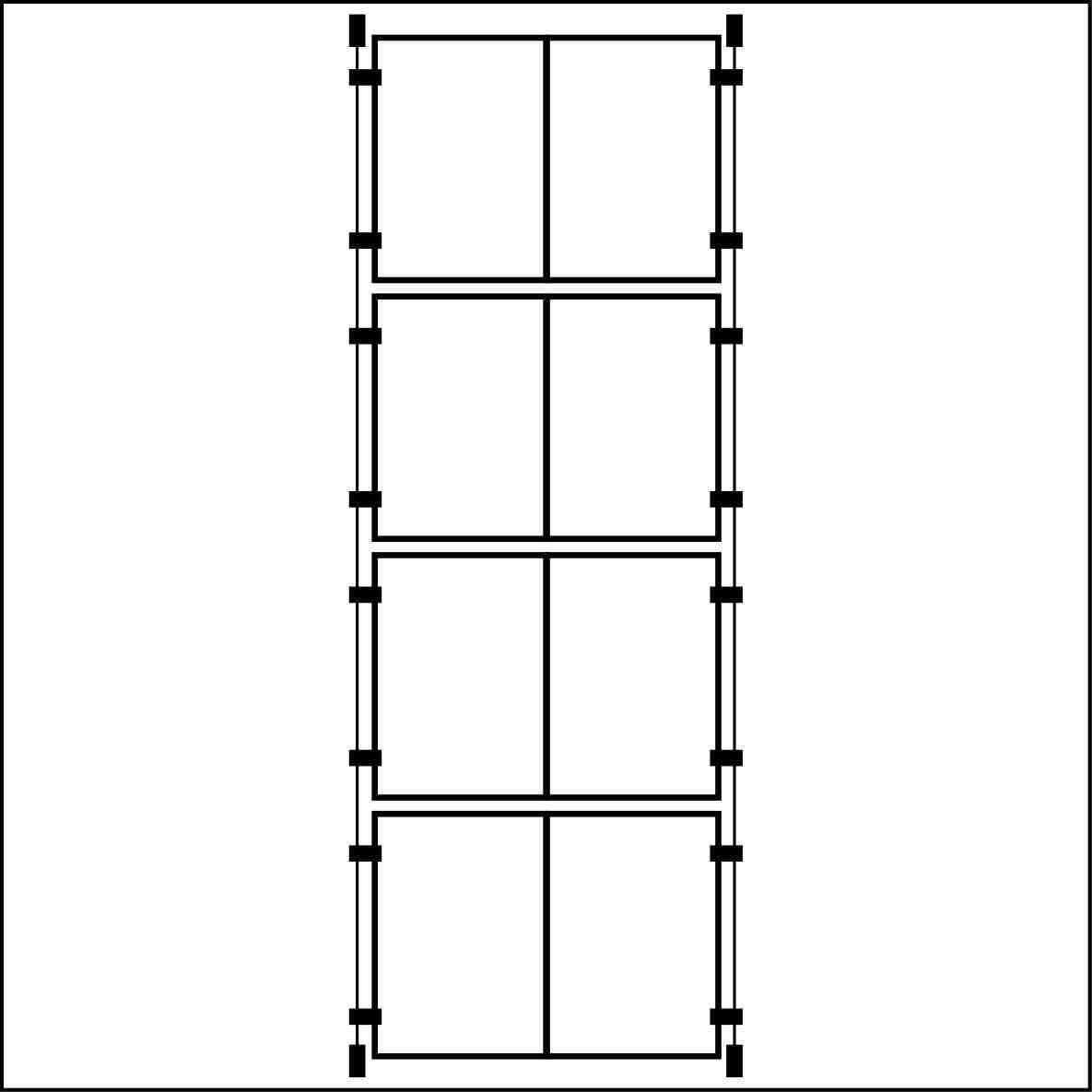 4/x cavo doppio formato A4/verticale Pocket finestra di visualizzazione