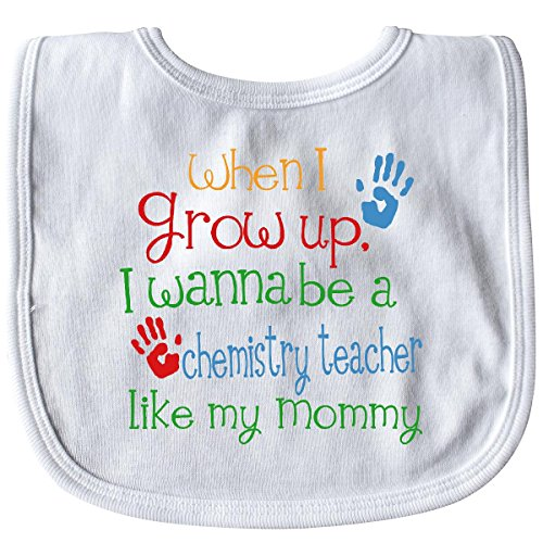 Inktastic - Chemistry Teacher Like Mommy Baby Bib White 24842 ()
