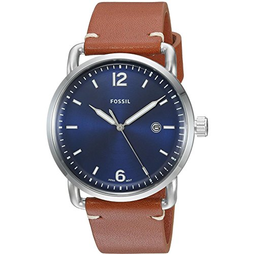 Fossil-The-Commuter-Multifunction-Leather-Watch
