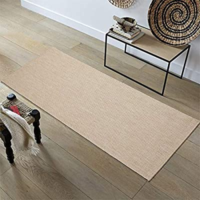 Ottomanson Jardin Collection Solid Design Runner Rug, 2' x 5', Cream - VERSATILE: Robust construction makes it ideal for high-traffic areas indoor or outdoor. DURABLE and LONG LASTING: Power-loomed in Turkey with %100 polypropylene. LOW-PILE HEIGHT is non-shedding and ideal for homes with pets and high-traffic. - runner-rugs, entryway-furniture-decor, entryway-laundry-room - 51CnfBHL4vL. SS400  -