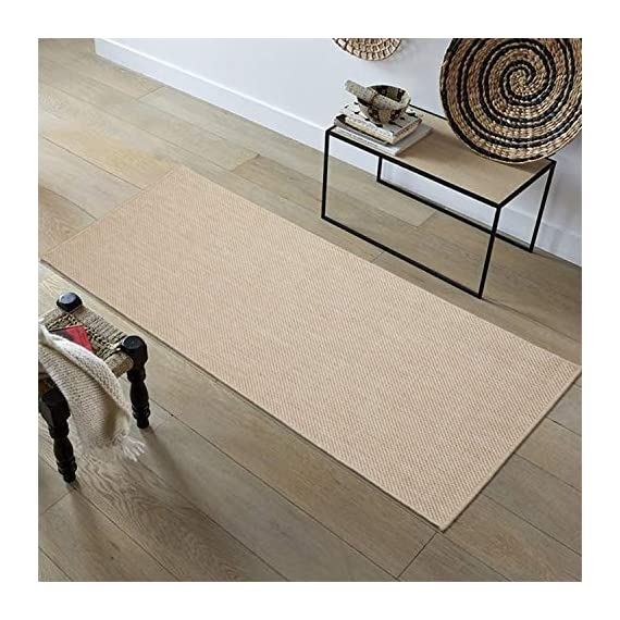 Ottomanson Jardin Collection Solid Design Runner Rug, 2' x 5', Cream - VERSATILE: Robust construction makes it ideal for high-traffic areas indoor or outdoor. DURABLE and LONG LASTING: Power-loomed in Turkey with %100 polypropylene. LOW-PILE HEIGHT is non-shedding and ideal for homes with pets and high-traffic. - runner-rugs, entryway-furniture-decor, entryway-laundry-room - 51CnfBHL4vL. SS570  -