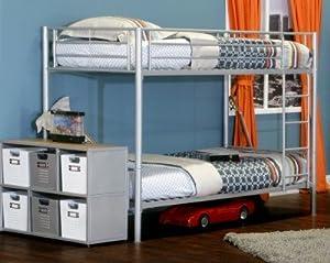American Furniture Alliance Locker Twin Over Twin Bunk Bed