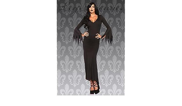 Delights Disfraz de Vampiro gótico de Elvira de Halloween para Mujer M/L (UK 10-12): Amazon.es: Juguetes y juegos