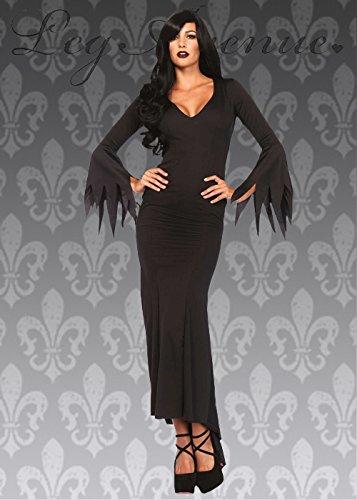 Delights Disfraz de Vampiro gótico de Elvira de Halloween para Mujer M/L (UK