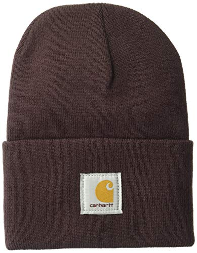 Carhartt Men's Acrylic Watch Hat A18, Wine, One Size