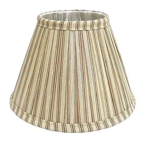 Better & Best 0213258 bicolore à rayures Taupe et Vert de 25cm écran de lampe de soie table étroite