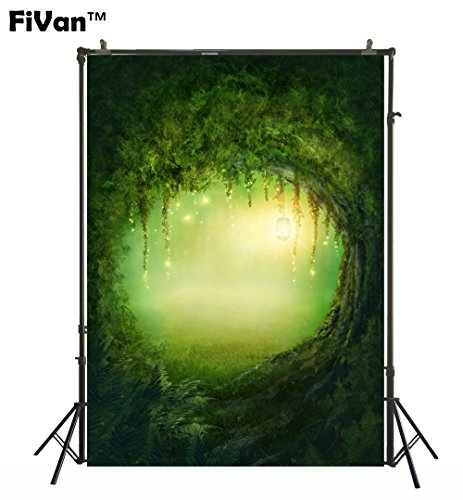 Backdrops For Kids Babies Pictures Newborn Wrap Photography Background Photo Booth Dessert Table Wall Decoration Green Cave FD-8439