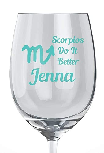 Scorpio Birthday Glitter Wine Glass