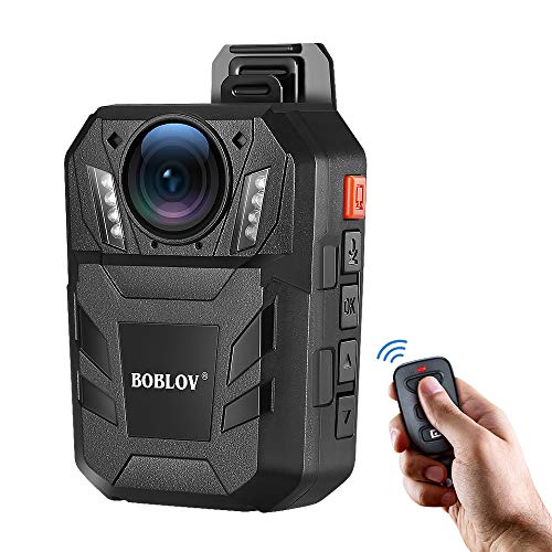 - BOBLOV Amba Body Camera 1296P Body Worn Mounted Camera 170 Degree 9Hours Recording with Extra Remote Controller (Built-in 32G)
