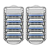 Amazon Brand – Solimo 3-Blade Razor Refills for Men, 8 Refills