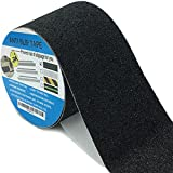Newprous Anti Slip Strong Grip Tape Step Treads Non-slip Adhesive Traction Tape Strips for Kids Pets Olders Safety Indoor Outdoor Stair Ramp W4 in X L16.5 ft Black