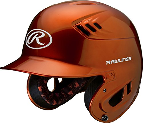Orange Professional Helmet - Rawlings R16 Series Metallic Batting Helmet, Orange, Junior