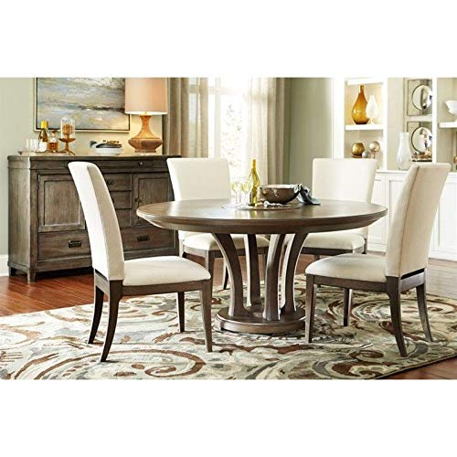 """American Drew Park Studio 6 Piece 62"""" Round Wood Dining Set in Taupe"""