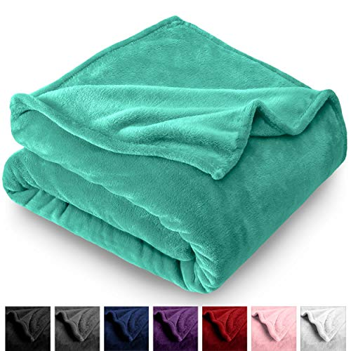 Bare Home Microplush Velvet Fleece Blanket - Twin/Twin Extra Long - Ultra-Soft - Luxurious Fuzzy Fleece Fur - Cozy Lightweight - Easy Care - All Season Premium Bed Blanket (Twin/Twin ()