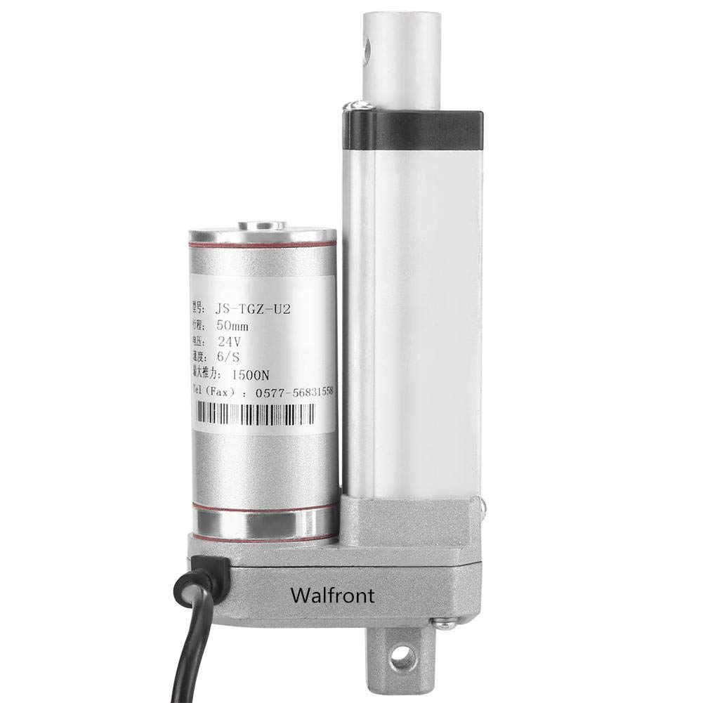 Multifunction 12v DC Small Electric Linear Actuator Cylinder Lift Stroke 50//100//150//250//300mm 140KG 310 Pound Maximum Heavy Duty Motor for Medical Automation 100mm
