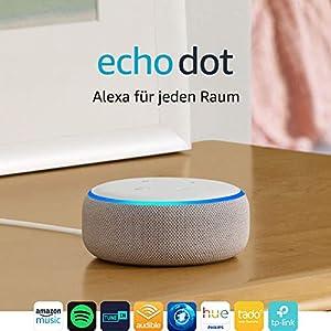 Echo Dot (3. Gen.) Intelligenter Lautsprecher mit Alexa