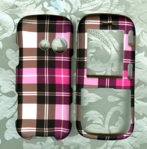 Purple Plaid Snap on Case VERIZON LG COSMOS VN250 PHONE (Lg Cosmos Vn250 Case compare prices)