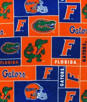 Florida Gators Fleece Fabric - Florida Gators Allover NCAA Fleece - by the Yard