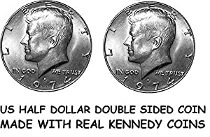 Pair of Real Double Sided KENNEDY HALF DOLLAR COIN 1 Two Headed and 1 Two Tailed Coin