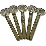 Black Leaf Stahl-Hängesiebe 15mm für Tabakpfeifen, trad. Wasserpfeifen 5 Stück Stahlhängesiebe