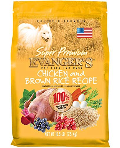 Evanger s Super Premium Dog Food Chicken with Brown Rice 33 lbs