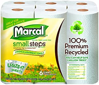 """product image for 100% Premium Recycled Giant Roll Towels, 5 3/4"""" X 11"""", 140/Roll, 6 Rol"""
