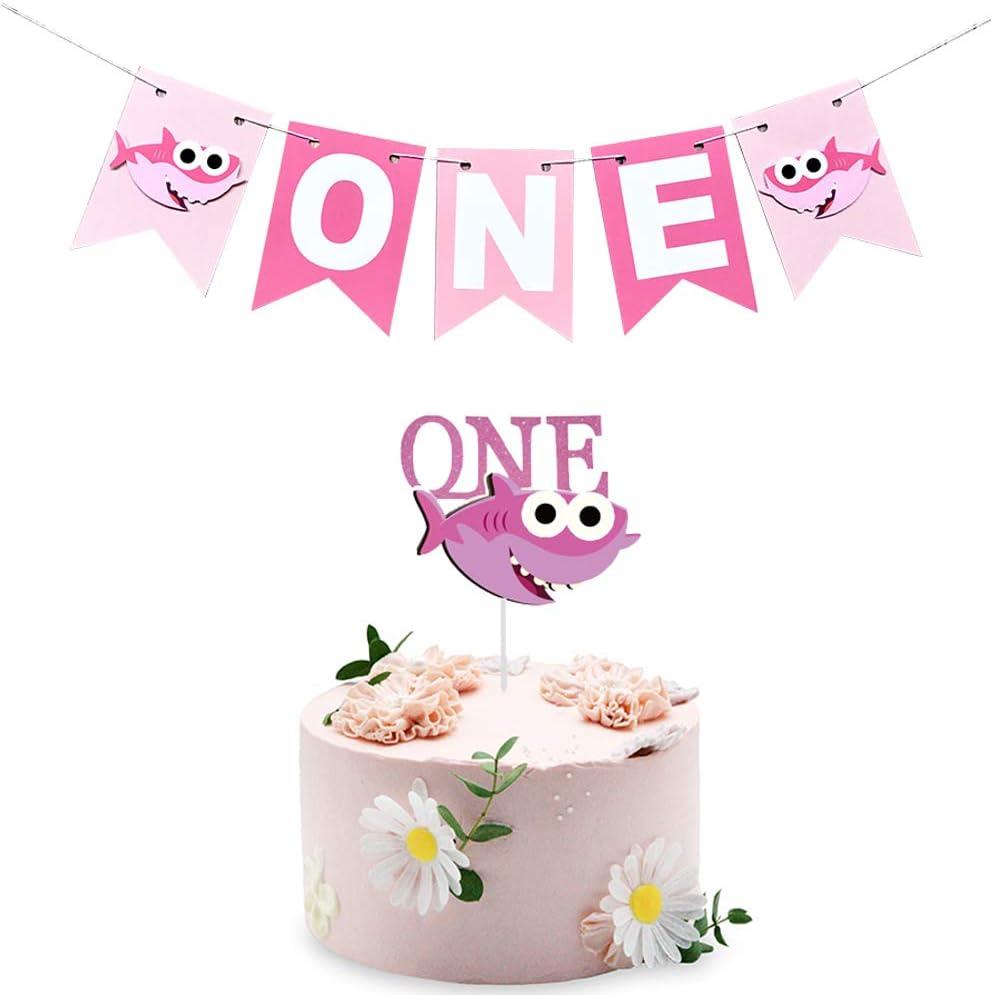 Girl Birthday Banner Pink High Chair Banner 1st Birthday Decor Cake Smash Garden Floral First One Birthday High Chair Floral Pink Flowers