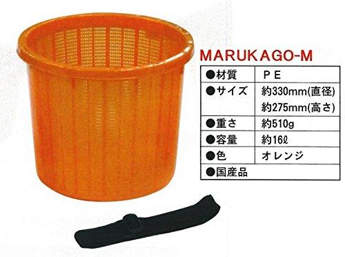 ブラスト興業 ベルト付き収穫カゴ M 20個セット オレンジ MARUKAGO-M B00U8F95IA