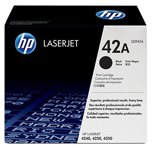 HP 42A (Q5942A) Black Original LaserJet Toner Cartridge by HP