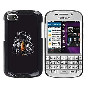 LECELL -- Funda protectora / Cubierta / Piel For BlackBerry Q10 -- Space Shuttle Astronaut --