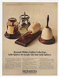 1968 Ronson Hidden Lighters Weight Bell Tulip Original Print Ad (18477)