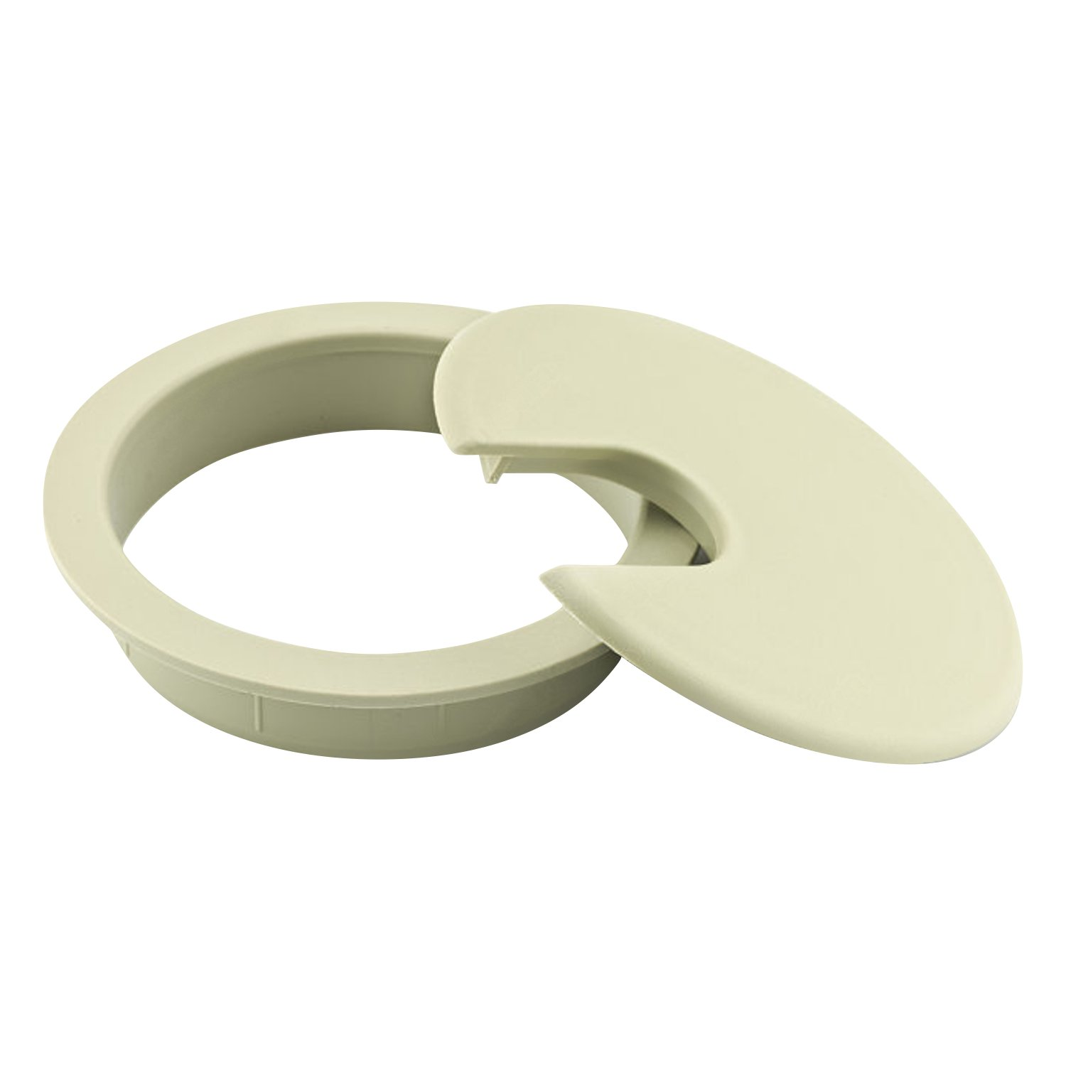 """3/"""" Round Gray Computer Desk Table Port Wire Cable Hole Cover Grommet 76MM"""