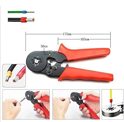 Denshine 0.25 - 6 mm² crimpadora mano crimpadora Terminal crimpadora autoajustable alicates: Amazon.es: Bricolaje y herramientas