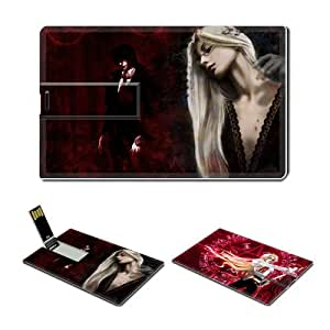 16GB USB Flash Drive USB 2.0 Memory Credit Card Size Anime Hellsing Comic Game Customized Support Services Ready Integra Wingates Hellsing 003