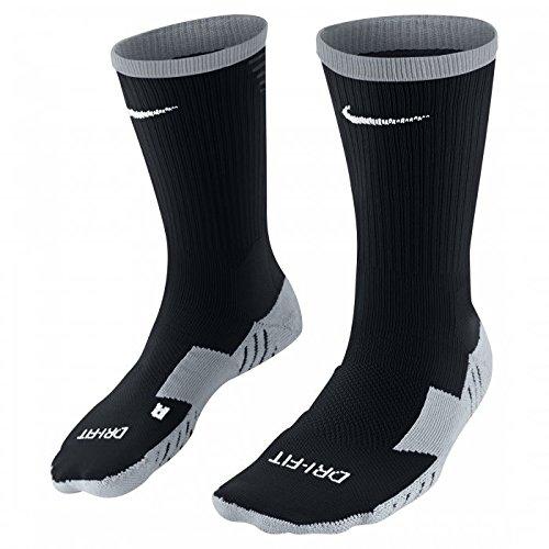 Nike Herren Stutzenstrumpf Team Matchfit Core Crew, Black/Anthracite/White, L, 800264-010