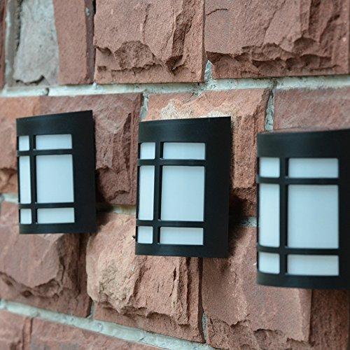 Etbotu Exquisite Waterproof LED Solar-Powered Yard Lamp Garden Wall Light Decoration by Etbotu (Image #4)
