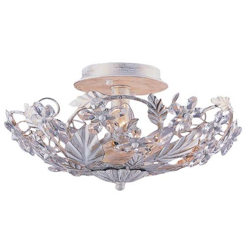 Crystorama 5316-AW Crystal Accents Six Light Ceiling Mounts from Abbie collection in Whitefinish, Abbie Six Light